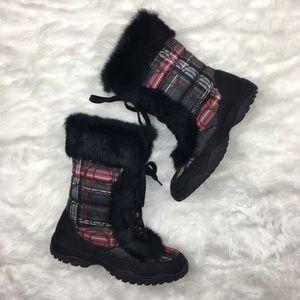Coach   Jennie Plaid Snow Boots 8 B